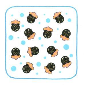 画像1: ブリキのきんぎょちゃん ハンカチタオル 色:黒